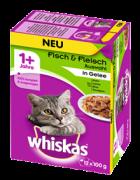 Kissan märkäruoka Whiskas: Kala- & Liha  1+ Huippulaatua erittäin halvoin hinnoin!