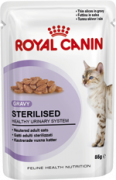 Sterilised en sauce   Alimentation humide pour chat   de chez Royal Canin. Economisez jusqu'à 80% dès à présent!