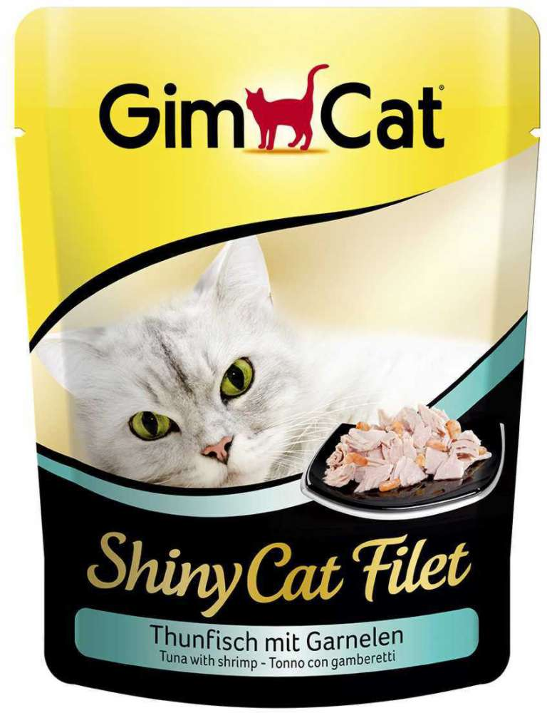 GimCat ShinyCat Filet tonijn met garnalen 70 g
