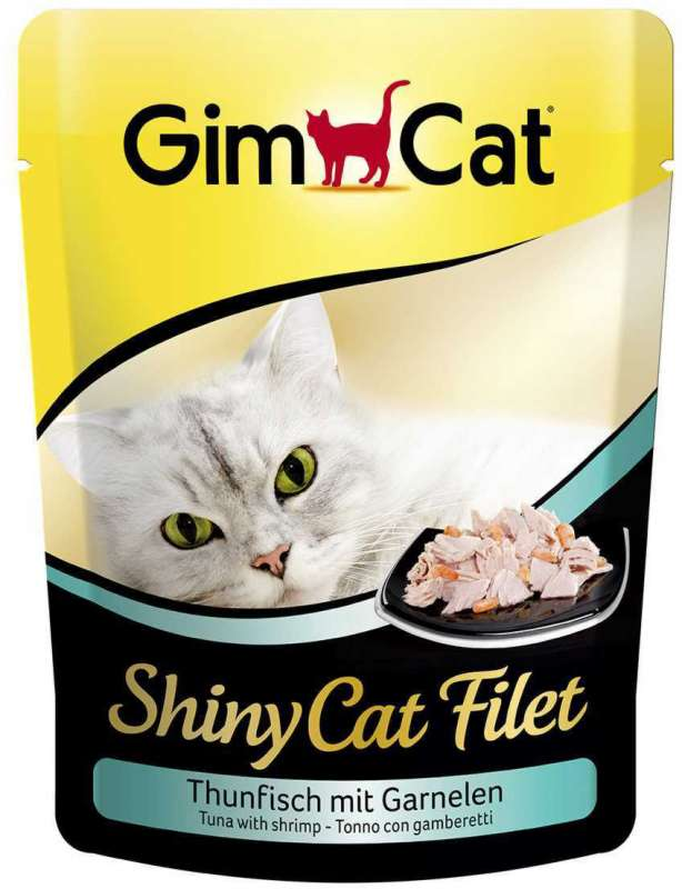 GimCat ShinyCat Filet tonijn met garnalen 70 g 4002064412863