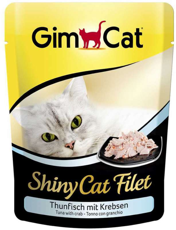 GimCat ShinyCat Filet tonijn met krab 70 g 4002064412863