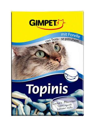 GimPet Topinis con trucha 75 pzs