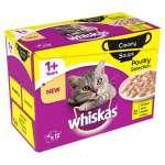 Whiskas Bolsitas 12es Multipack 1+ Creamy Soups Aves de Corral 12x85 g