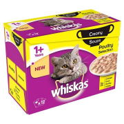 Whiskas 1+ Creamy Soups - Poultry Selection 12x85 g