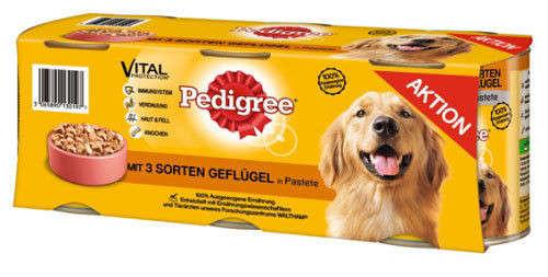 Pedigree Megapack Med 3 Slags Fjerkræ 3x800 g køb rimeligt og favoribelt med rabat