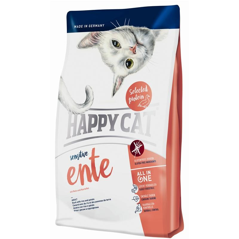 Happy Cat Sensitive Ankka Riisi ja Peruna 300 g, 1.4 kg, 4 kg