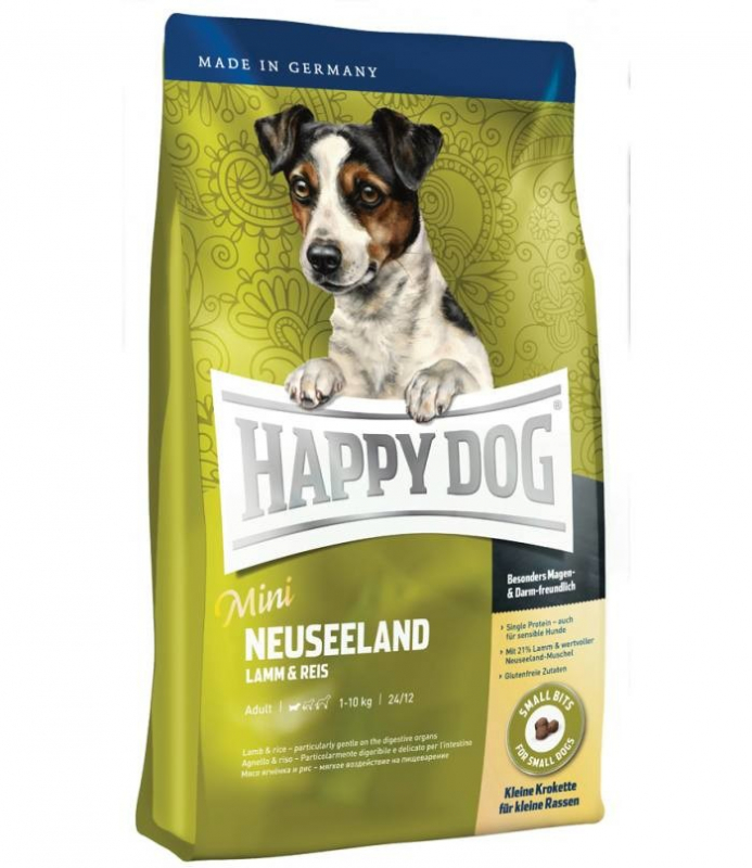 Happy Dog Supreme Mini Neuseeland kanssa Lammasta & Riisiä 4 kg