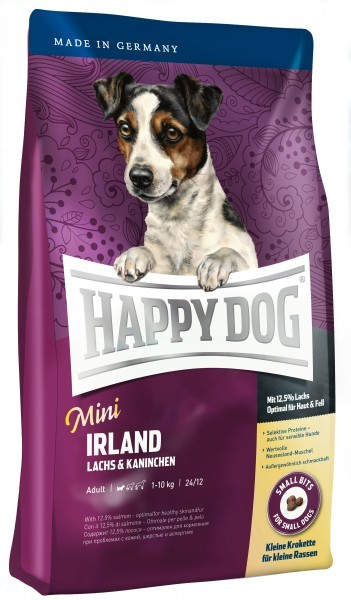 Happy Dog Supreme Mini Irland kanssa Lohi & Kaniini 4 kg