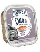 Happy Cat Duo Häppchen auf Paté mit Rind & Wild Schale 100 g Art.-Nr.: 19642