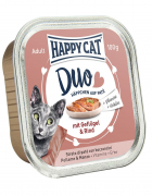 Happy Cat Duo Pâté on Nibbles with Chicken & Beef Tray 100 g