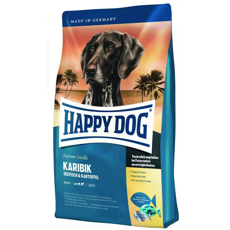 Happy Dog Supreme Karibik - Peixes de mar e Batata 300 g, 12.5 kg, 1 kg, 4 kg, 10 kg