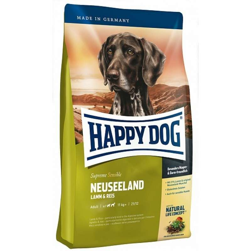 Happy Dog Supreme Sensible Neuseeland com Pato & Salmão 4 kg