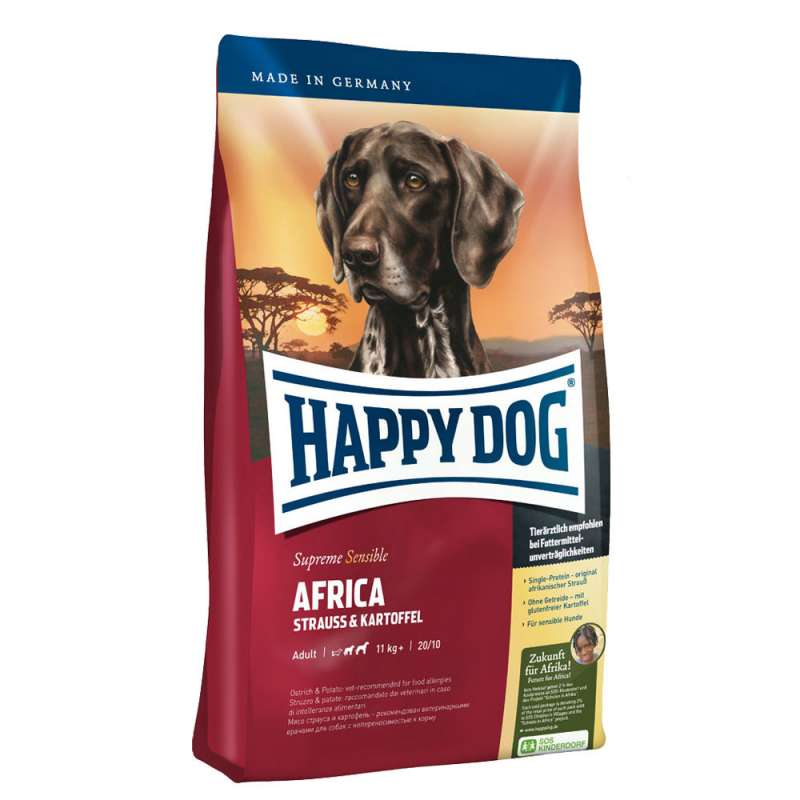Happy Dog Supreme Sensible Africa com Avestruz e Batata 4001967102000 opinião