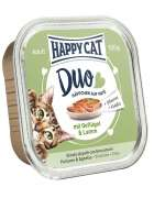 Happy Cat Duo Pâté on Nibbles with Poultry & Lamb Tray 100 g