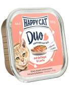Happy Cat Duo Pâté on Nibbles with Poultry & Salmon Tray 100 g