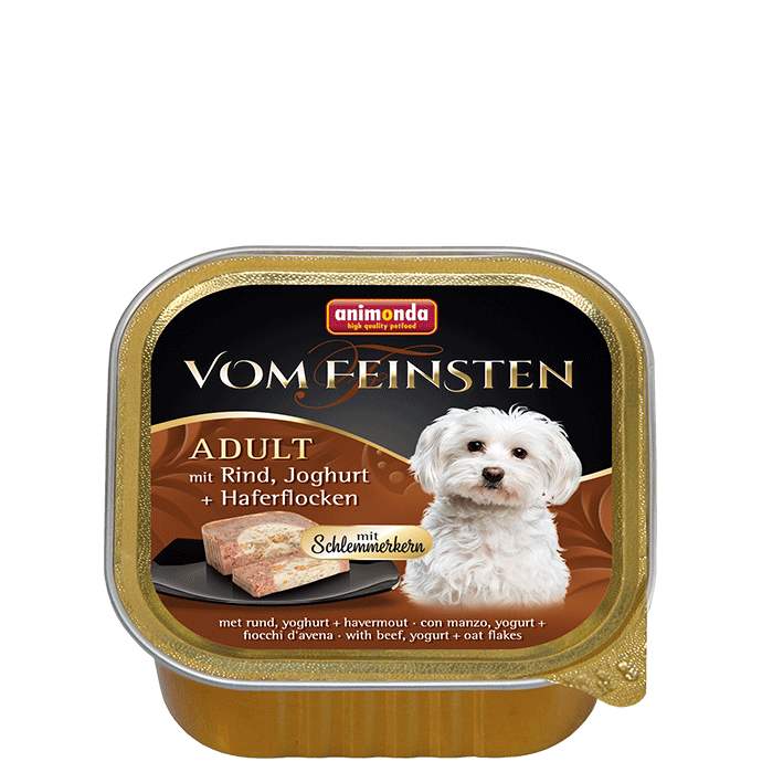 Animonda Vom Feinsten Adult with Beef, Yoghurt & Oatmeal 150 g 4017721826655 erfaringer