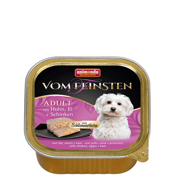 Animonda Vom Feinsten  Adult with Chicken, Egg and Ham 150 g 4017721826655 erfaringer