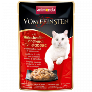 Vom Feinsten Adult with Chicken Fillet and Beef in Tomato Sauce 50 g fra Animonda