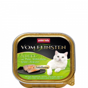 Vom Feinsten Adult with Turkey, Chicken breast + Herbs 100 g van Animonda