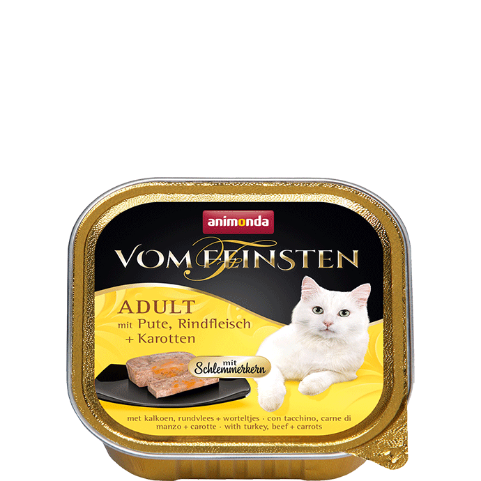 Animonda Vom Feinsten Adult with Turkey, Beef and Carrot 100 g, 32x100 g test