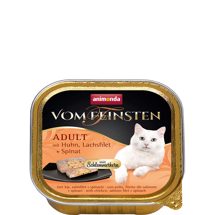 Animonda Vom Feinsten Adult with Chicken, Salmon Filet and Spinach 100 g