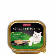 Vom Feinsten Adult with Beef, Salmon Filets & Spinach 100 g van Animonda