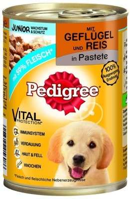 Pedigree Junior Classic Gevogelte & Rijst in Pastei 400 g test