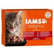 Iams Delights Land & Sea Collection in Sauce 12x85 g