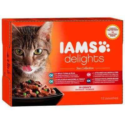 Iams Delights Sea Collection in Gravy 12x85 g