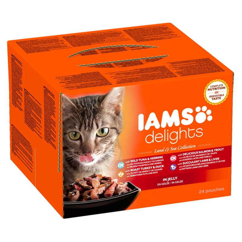 Iams Delights Land & Sea Collection in Jelly 24x85 g