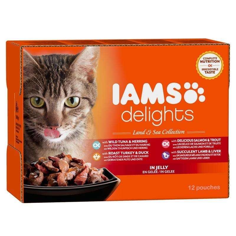 Iams Delights Land & Sea Collection in Jelly 12x85 g