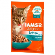 Iams Delights Kitten with Chicken in gravy 85 g
