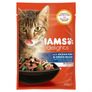 Iams Delights with Ocean Fish and Green Beans in gravy 85 g