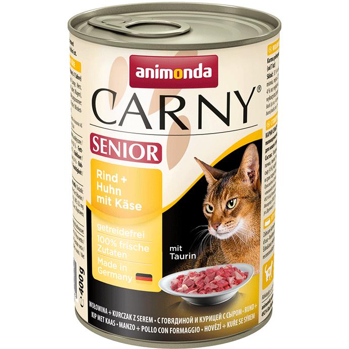 Animonda Carny Senior Nauta, kana & juusto 400 g, 200 g