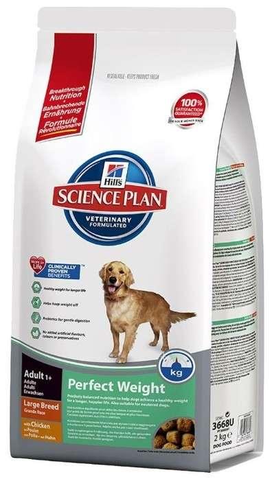 Hill's Science PlanCanine - Adult Perfect Weight Large Breed med Kylling 12 kg, 2 kg køb rimeligt og favoribelt med rabat
