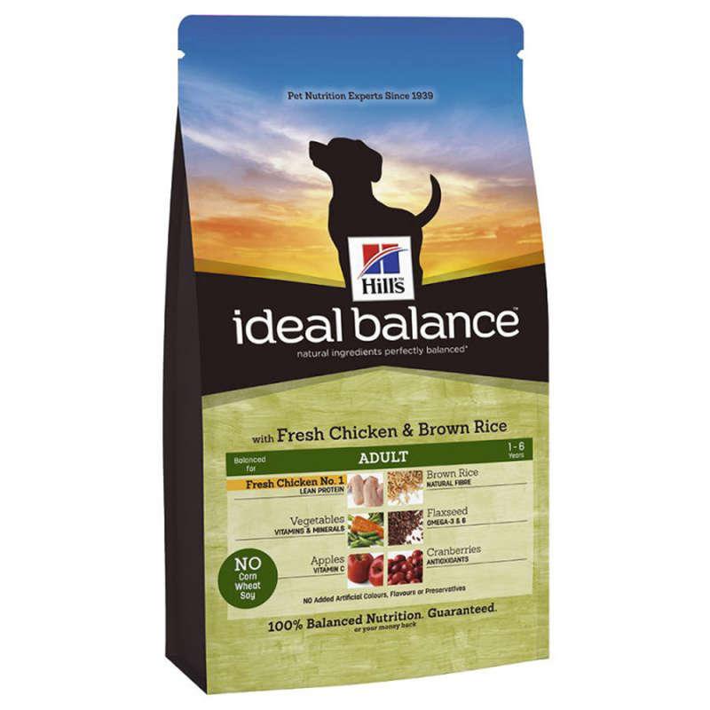 Hill's Ideal Balance Canine Adult fersk Kylling og brune Ris 12 kg, 2 kg, 700 g