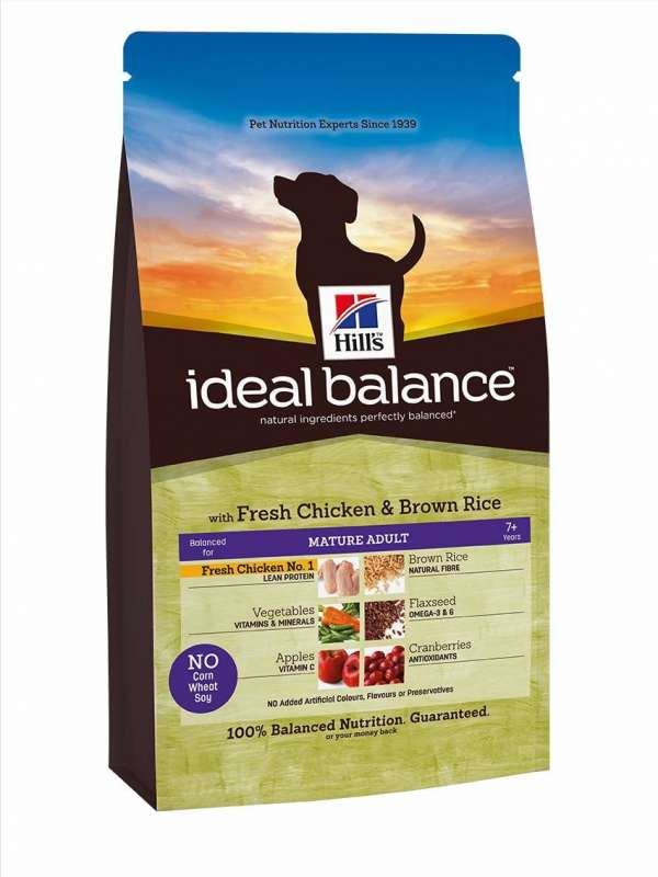 Hill's Ideal Balance Canine Mature Adult fersk Kylling og brune Ris 700 g