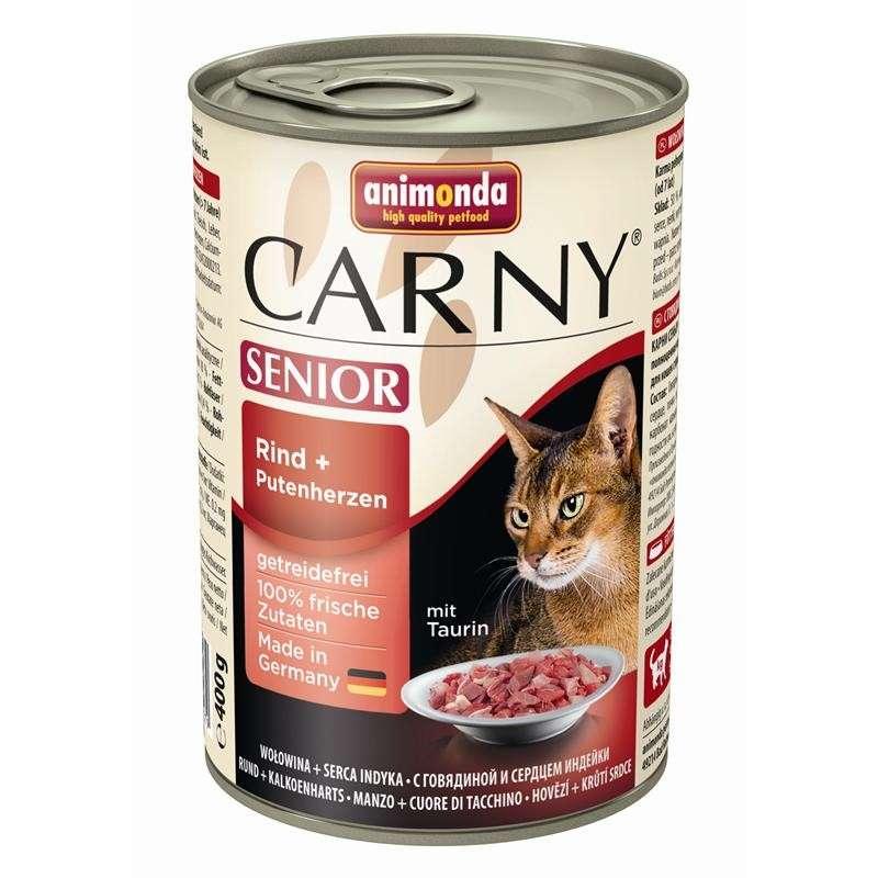 Animonda Carny Senior Beef + Turkey hearts 400 g