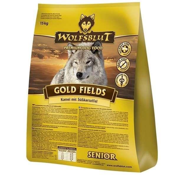 Wolfsblut Gold fields Senior met Kameel en zoete Aardappelen 15 kg, 2 kg, 500 g