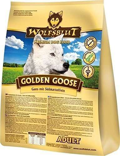 Wolfsblut Golden Goose Adult Gans vlees en zoete Aardappelen 15 kg, 2 kg, 500 g