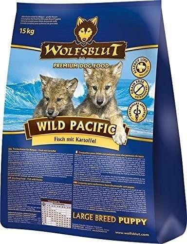 Wolfsblut Wild Pacific Large Breed Puppy Vis met Aardappel 2 kg, 15 kg