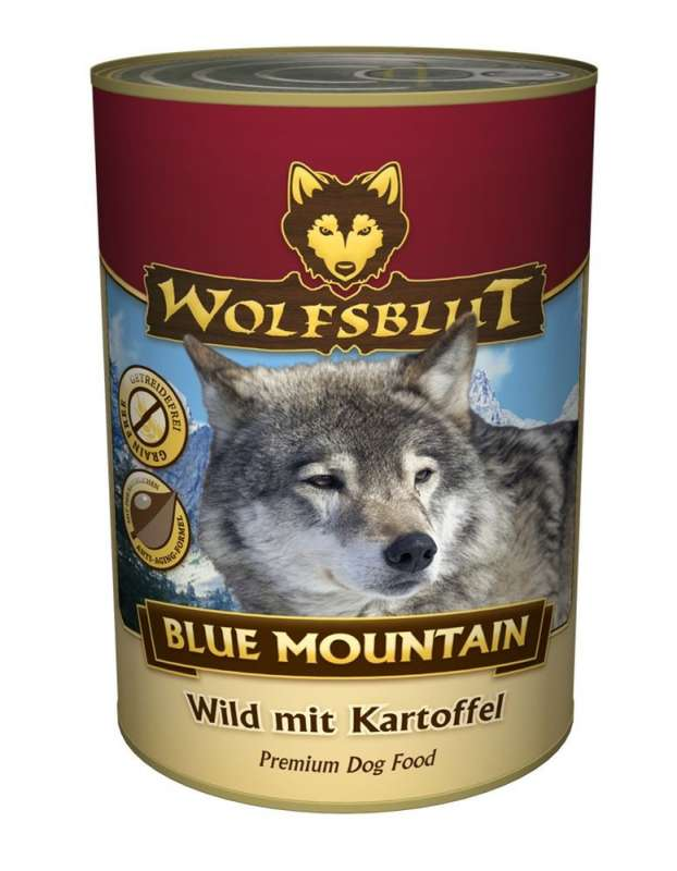 Wolfsblut Blik Blue Mountain Wild met Aardappel 800 g, 200 g