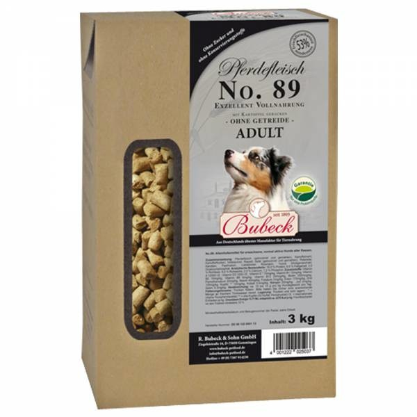 Bubeck No. 89 Horse meat with Potato 3 kg, 6 kg, 12.5 kg, 1 kg