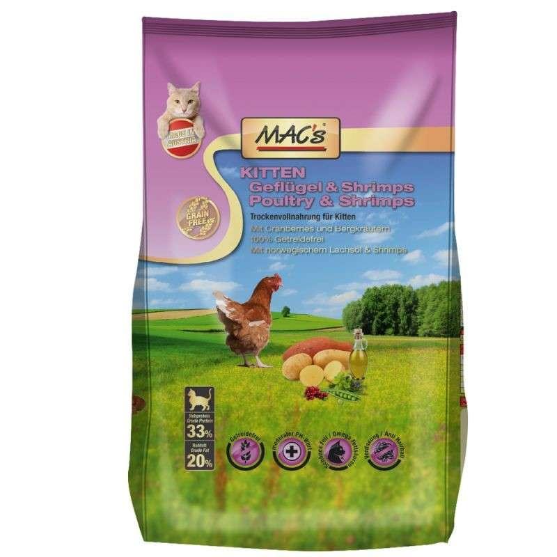 Kitten - Poultry & Shrimps by MAC's 1.5 kg, 300 g, 7 kg buy