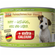 MAC's Feinschmecker Menü Puppy - Poultry, Hearts & Liver canned 200 g - Canned puppy food