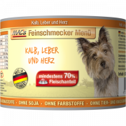 MAC's Feinschmecker Menü - Veal, Liver & Heart, Canned - EAN: 4027245009304
