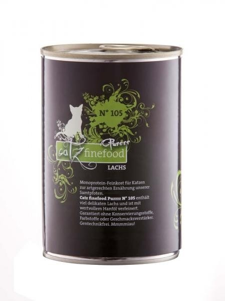 Catz Finefood Purrrr No. 105 Saumon 200 g, 400 g, 800 g, 85 g, 190 g, 375 g, 750 g, 80 g essay