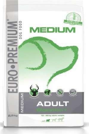 EURO-PREMIUM Medium Adult Digestion+ Hert & Rijst 2.5 kg 5411860804762