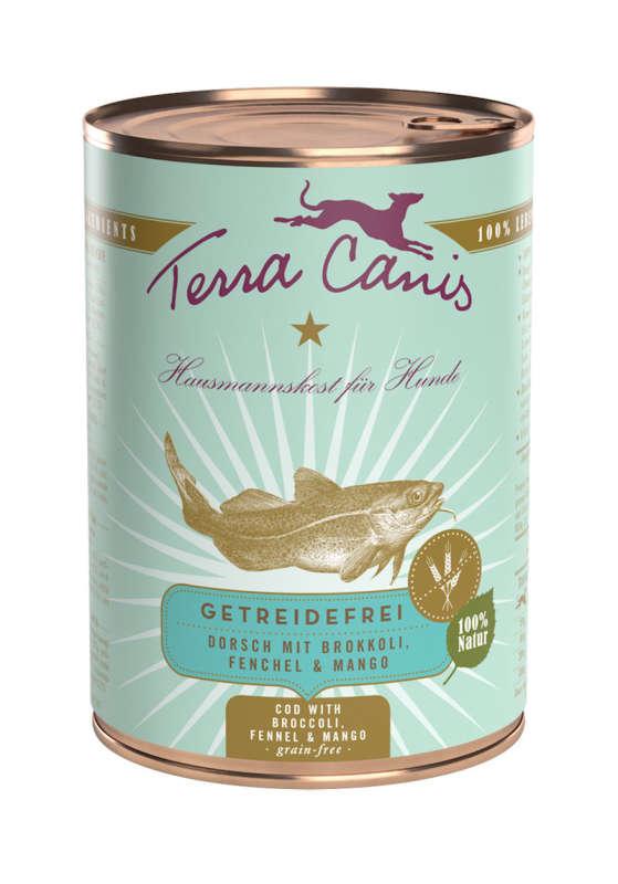 Terra Canis Menu sans Céréales, Cabillaud avec Broccoli, Fenouil et Mangue 400 g