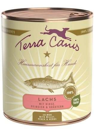 Terra Canis Menü Classic, Lachs mit Hirse, Pfirsich & Kräutern 800 g, 400 g, 200 g